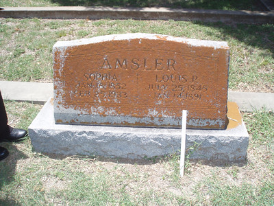 Gravesite in Shiner of parents of W.T. Amsler (Photo 6/16/12)